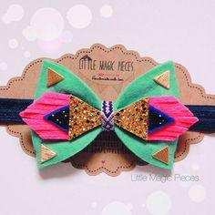 Aztec Bow Headband