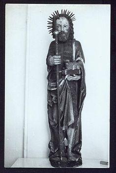 RPPC Jesus Christ Folk Art Statue Christ Sculpture Antique