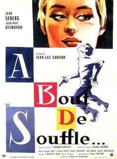 Affiches et pochettes À bout de souffle de Jean-Luc Godard