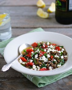 Greek lentil soup with red pepper and feta, a year-round favorite to ...
