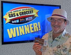 Robert Donahue won $100 in The Great Gas & Grocery Giveaway from KXLY4, Divine's & Yokes.