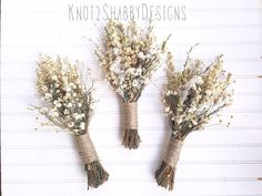 Wildflower bouquet dried flower bouquet by Knot2ShabbyDesigns
