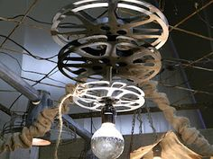 film reels light fixture