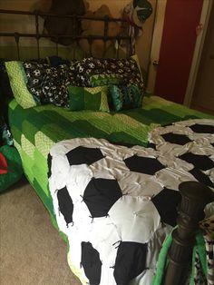 Soccer quilt for my soccer lover:)
