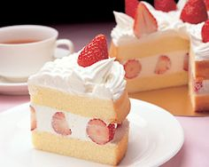 My mom used to make these light-as-air strawberry and whipped cream cakes when we lived in Japan. SO good.