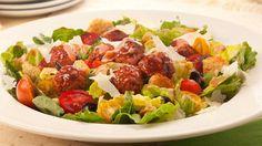 Caesar+Meatball+Salad