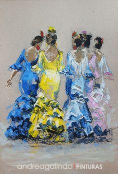 Cartel de la Feria de Dos Hermanas 2016. ¡Vamos a la feria!; Procedimiento: Mixto (acrílico y pastel); Medidas: 98x66 cm. ...