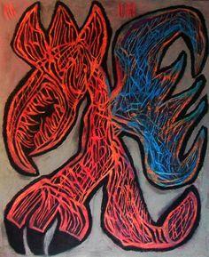 """""""ZIz"""" 2015 Tecnica mista su cartoncino 58x48 © Pietro Gargano"""