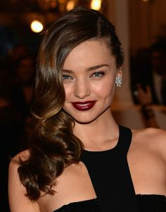 Miranda Kerr's warm chestnut hair