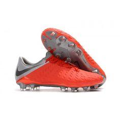 Botas De Futbol Nike Hypervenom Phantom III Elite FG Crimson Gris Metálico Gris  Lobo 6b93a85f0518d
