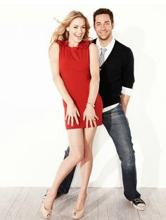 Yvonne Strahovski and Zachary Levi MY FAVORITE SHOW! CHUCK! a must see! and love her style so much