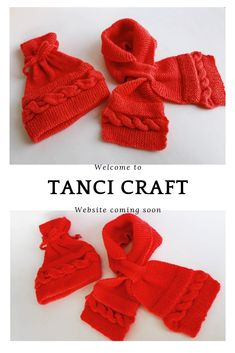 Warm hat and shawl in hard candy red hues for ages Candy Red, Baby Socks, Fingerless Gloves, Arm Warmers, Shawl, Leggings, Holidays, Knitting, Crochet