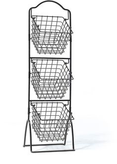 Gourmet Basics 3 Tier Metal Market Basket. From Gourmet Basics by Mikasa®️️ Collection. This 3 Tier Metal Market Basket is a unique product featuring an antique black brushed copper design, adding a modern touch to your décor. This 3 tier basket is great for storing or displaying food or other items. Crafted from high grade carbon structural steel for long lasting beauty even under rigorous use.