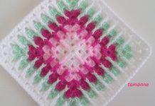 Crochet Square – Easy to Make (Tutorial) - Design Peak Motifs Granny Square, Crochet Motifs, Form Crochet, Crochet Blocks, Granny Square Crochet Pattern, Crochet Squares, Manta Mandala, Point Granny Au Crochet, Crochet Bedspread Pattern