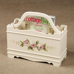 Audrey Rose Magazine Rack White