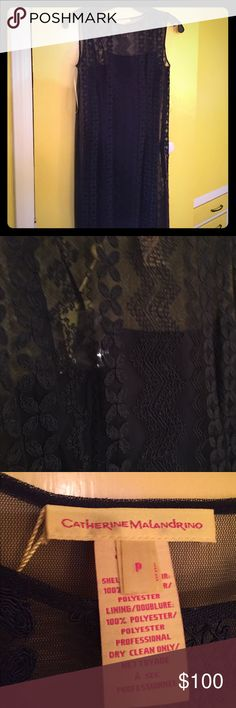 Catherine Malandrino lace shift. Navy Catherine Malandrino lace shift. New with tags. Catherine Malandrino Dresses Midi