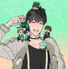 Wattpad, Bts Chibi, Bts Fans, Kpop Fanart, Happy Birthday Me, Jhope, My Sunshine, Bts Memes, All Art