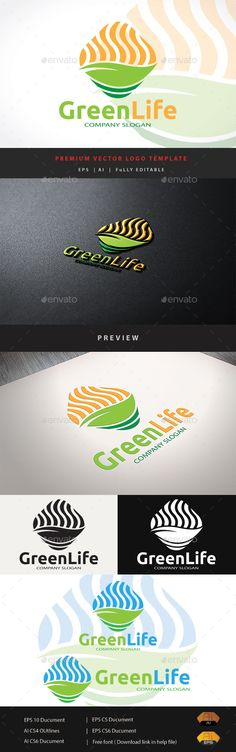 Green Life - Logo Design Template Vector #logotype Download it here: http://graphicriver.net/item/green-life/11774011?s_rank=738?ref=nesto