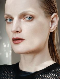 Such a great nose! She looks like a Tamara De Lempicka painting - Model: Guinevere Van Seenus | Photographer: Thomas Lohr - Delta of Venus for 10 #5 spring / summer 2015 | Via visual Optimism