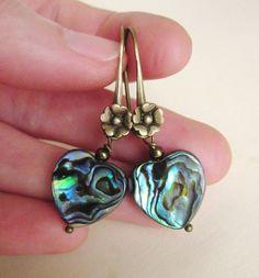 Earrings with shell from EyeBright by DaWanda.com