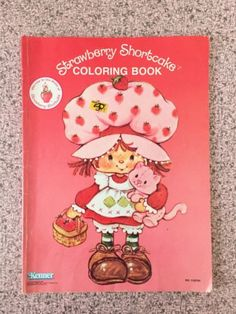Vintage-1981-Strawberry-Shortcake-Coloring-Book-Kenner-American-Greetings