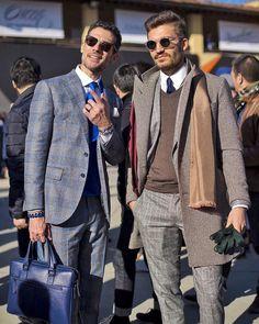 The #menswear #blogger Justuf Hansen wearing our Cran Transparent #sunglasses #thebespokedudeseyewear #style #tbdeyewear #fashion #pitti