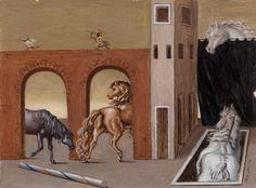 Horses of Tragedy (I cavalli della tragedia) - Giorgio de Chirico
