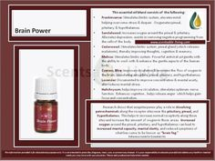Do not ingest essential oils! Brain Power - an essential oil blend to help with brain fog, mental clarity, seizures, strokes, mental illness and more! Essential Oils For Depression, Natural Essential Oils, Essential Oil Blends, Young Living Oils, Young Living Essential Oils, Natural Healing, Natural Oils, Healing Oils, Yl Oils