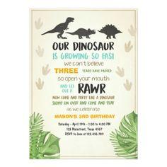 #Dinosaur birthday invitation Dinosaur Party Invite - #birthday #gift #present #giftidea #idea #gifts