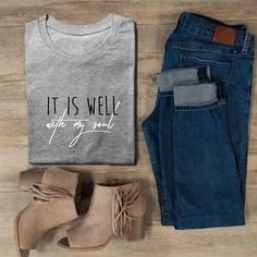 8 Keen Simple Ideas: Womens Tops Shirts Fashion womens tees my life.Womens Tees My Life womens tops chic trousers. Christian Shirts, Christian Clothing, Vinyl Shirts, Cristiano, Cute Shirts, Graphic Tees, Shirt Designs, Cute Outfits, Bible