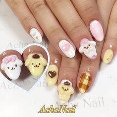 Really Cute Nails, Cute Nail Art, Pretty Nails, Acrylic Nail Designs, Nail Art Designs, Acrylic Nails, Garra, Bad Nails, Anime Nails