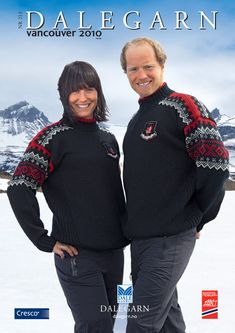#DaleGarn Free Download Patterns DG213 Vancouver 2010 Official Skiing Sweater #NSF