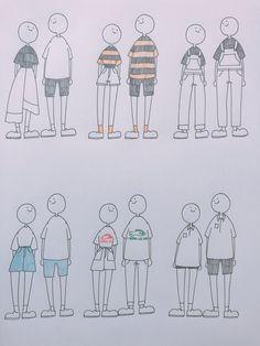 이지수(ww2554)님의 스타일 | 심심해서 이때까지 입은 커플룩 그리기 #그림 #일러스트 #커플룩 Body Reference Drawing, Art Reference, Cute Drawings, Drawing Sketches, Character Drawing, Character Design, Proportion Art, Arte Sketchbook, Cute Art Styles