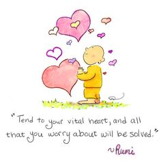 Today's Buddha Doodle! ❤Tend to your Heart❤ by Mollycules