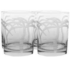 These cocktail glasses etched with palm trees will be sure to transport you to your favorite resort location, no matter where you are. #jossandmain