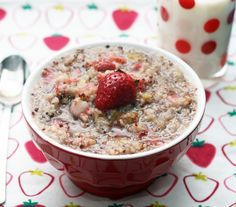 Strawberry-Rhubarb Quinoa Porridge