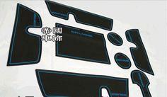 8 PCS Non-Slip Interior Door Mat Cup Mat For Toyota Highlander 2009 2010 2011 2012
