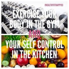 in the gym and in the kitchen!