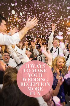 Need some unique wedding ideas? Check out those 11 ways to make your wedding reception more fun!