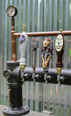 Custom Steam Punk Gadget Industrial Draft Beer Tower by TappedBeer