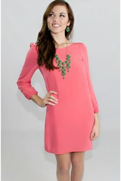 Simply True Coral Dress - Dresses