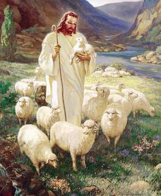 The Lord is my Shepherd. This picture hung in my home as a child.