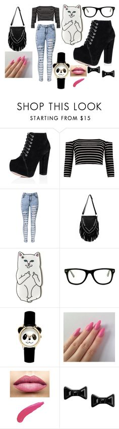 """""""meeting 5sos part 3"""" by aniapenguin on Polyvore featuring WithChic, Muse, TheBalm and Marc by Marc Jacobs"""