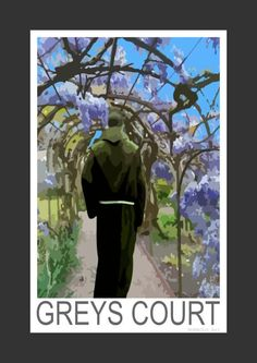Wisteria at Greys Court in Oxfordshire (Art print).
