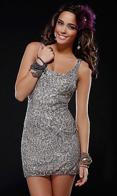 Short Sequin Dress by Scala Scala-14245