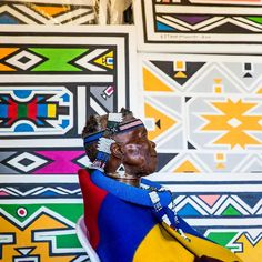Esther Mahlangu hails from a long art tradition of natural, colorful pigments painted with feathers on the walls of Ndebele homes. This year, we asked her to design the @BelvedereVodka @RED bottle with her signature bold patterns. Link in bio to learn more. #MAKETHEDIFFERENCE :@jonx