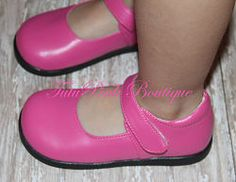 TutuPink Hot Pink Mary Jane Style Non Squeaky Shoe