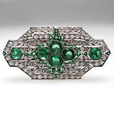 Mauboussin Art Deco Brooch