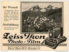 Original-Werbung/Inserat/ Anzeige 1928 - 1/2-SEITE - ZEISS IKON - ca. 110 X 145 mm