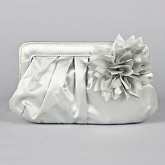 Silver clutch with flower:)